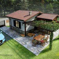 Продажба на кокетна къща, с голям двор, 850м2, близо до София, с. Люлин